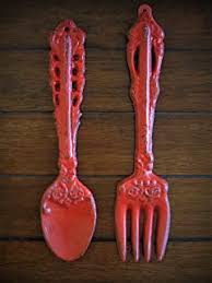 Knife fork and spoon wall decor wooden kitchen decor large fork and spoon silverware set kitchen signs restaurant decor diner decor havenamerica 4.5 out of 5 stars (4,622) $ 139.00 free shipping add to favorites more colors kitchen wall decor, fork and spoon, farmhouse kitchen, eat, kitchen wall art, fork and spoon, rustic kitchen, kitchen wall. Amazon Com Large Spoon And Fork Wall Decor