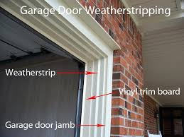 installing garage door trim how to replace garage door weatherstripping doors repair within trim seal ideas