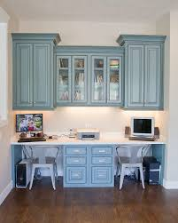 Kitchen Desk Area Hanging Cabinets Built In Desk For The Study Love The Color