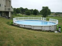 retaining wall around above ground pool slope google search ideas for