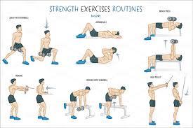 Exercise Chart For Men Gym Workout Schedule For Men Pdf Sada Margarethaydon Com