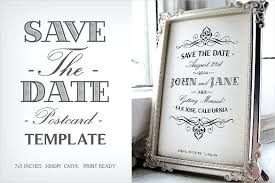 Save The Date Template Word Free Save The Date Templates Party Template Floral Wedding