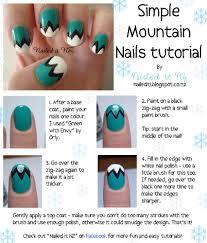 Nail art for short nails #1: Mountain Nails