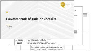 Fundamentals Of Training Checklist