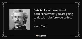 Data Quotes Awesome Mark Twain Quote Data Is Like Garbage You'd Better Know What You