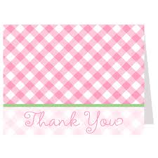 Baby-Q Pink Thank You Card