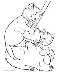Disegni Di Gatti Da Colorare E Stampare Gratis Gattini Che Giocano