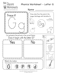 Our free phonics worksheets are great for everybody! Free Printable Letter G Beginning Sounds Phonics Worksheet For Preschool
