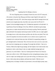 research paper gay marriage hsiung chien chiu hsiung english  research paper gay marriage hsiung chien chiu hsiung english 2 professor megan murtha 9 2009 legalizing same sex marriage in america the