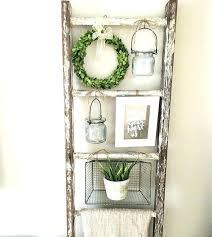 ont ideas decorative wall ladder small home decoration shelf wreaths decor for bathroom wooden