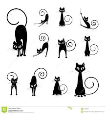halloween black cat silhouette. Perfect Halloween Black Cat Silhouette Collections Cartoon Black And White Halloween And Cat Silhouette A