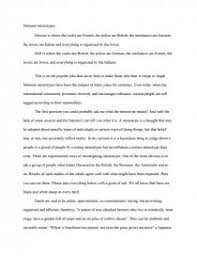 national stereotypes essay zoom