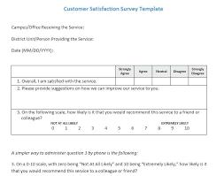 Customer Satisfaction Questionnaire Template Survey Sample Pdf