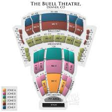 Buell Theater Seating Chart Pin On Concert Venues