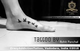 Crazyaddictiontattoo On Twitter Bird Tattoo On Leg Tattoo By Rohit