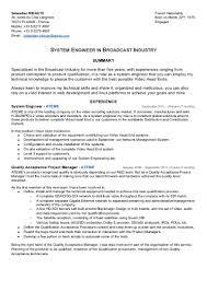 Broadcast Engineer Sample Resume Broadcast Engineering Sample Resume 24 Engineer Resident Network 1