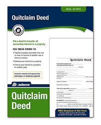Quick Deed Form Extraordinary Amazon Adams Quitclaim Deed Forms And Instructions LF48