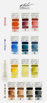 M Graham Color Chart M Graham Really The Most Vibrant And Pigmented Watercolour