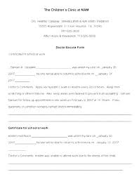 Doctors Note Release To Work Free Return To Work Form Template