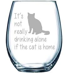 cat themed presents. Perfect Presents CatWineGlass For Cat Themed Presents A