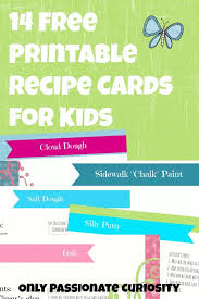 recipe cards for kids. Wonderful Cards Get 14 Free Recipe Cards For All Those Fun Kids Recipes Cinnamon Christmas  Ornament Dough  For Recipe Cards Kids