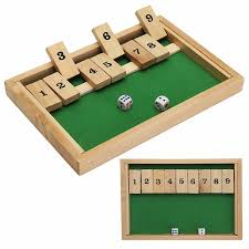 Classic Wooden Board Games 100 Classic Shut The Box Wooden Board Game Dice Pub Family Kids 75