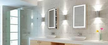 modern bathroom medicine cabinets. Plain Modern Modern Bathroom With Corner Shower Stall And Lighted Medicine Cabinets  Mirrors  Mirrored  Wearefound Home Design To M