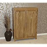 solid oak shoe cupboard cabinet hallway porch storage furniture hflco baumhaus mobel oak extra