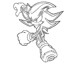 Shadow Coloring Pages Hedgehog The Sonic Boom Tails Page X Sheets