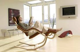 comfortable-brown-Gravity-reading-chair-and-multifunction-as-