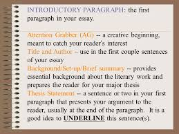writing the response to literature rtl essay ppt  5 introductory paragraph