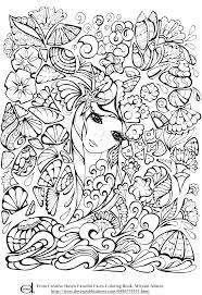 Free Printable Adult Coloring Pages Anime Girl With Flowers