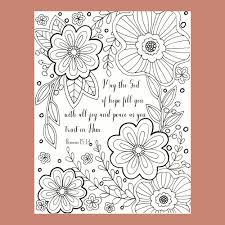 Bible Verse Coloring Page Scripture Coloring