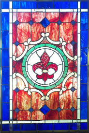 fleur de lis stained glass