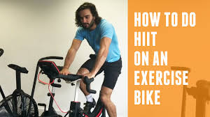 how to do a hiit on an exercise bike