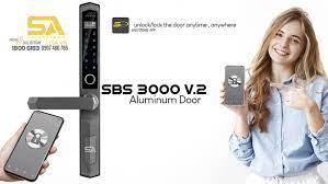 5A - Khoá Cửa Thông Minh 5A SBS3000 V2 Phiên bản chuyên nghiệp cho cửa nhôm  xingfa , cửa sắt và cửa lùa