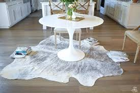 cow skin rug how to get the curl out of a cowhide rugs ikea uk