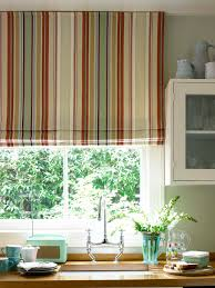 Patterns For Kitchen Curtains Decorations Cheerful Atmosphere Created By Rainbow Striped