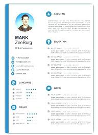 Resume Templates Download Free Gorgeous Word Document Resume Template Templates R Free Download With Photo