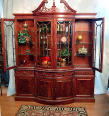 Chippendale China Cabinet Buy Bow Front Mahogany China Cabinet By Mm Signature From Www