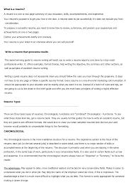 Different Kinds Of Resume Formats Infoe Link