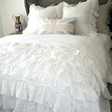 lily ruffle duvet cover lily linen ruffle duvet cover a cottage in the city waterfall ruffle