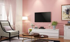 Light peach adds a little youth and the deep pine green accents offer some warmth and natural comfort. Pink Paint Colour Walls And Rooms Design Cafe