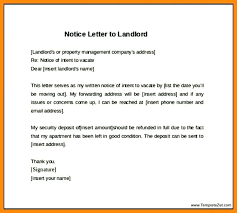 Day Notice To Landlord Sample Letter Template Example Days Necessary