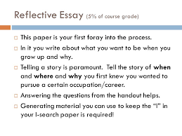 i search paper process or how i learned to love writing research reflective essay 5% of course grade iuml130uml this paper is your first foray