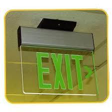 Edge Lit Exit Light Led Surface Mounted Exit Sign Edge Lit Single Sided 120 277v Morris