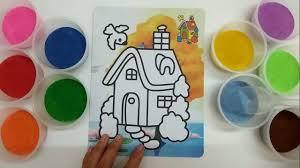 Đồ chơi trẻ em TÔ MÀU TRANH CÁT NGÔI NHÀ HẠNH PHÚC - Colored sand ...