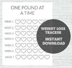 Fun Weight Loss Chart Pin On Healthy