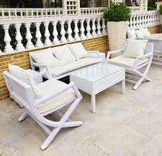 white outdoor furniture. Wonderful White Outdoor Furniture All Home Decorations Within Wooden Patio Pertaining To Residence R