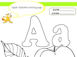Coloring Sheet Kids A For Apple Coloring Page Letter A Apple ...